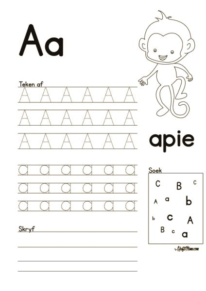 5 letter words that begin with za leer alfabet afrikaans free printables 18602