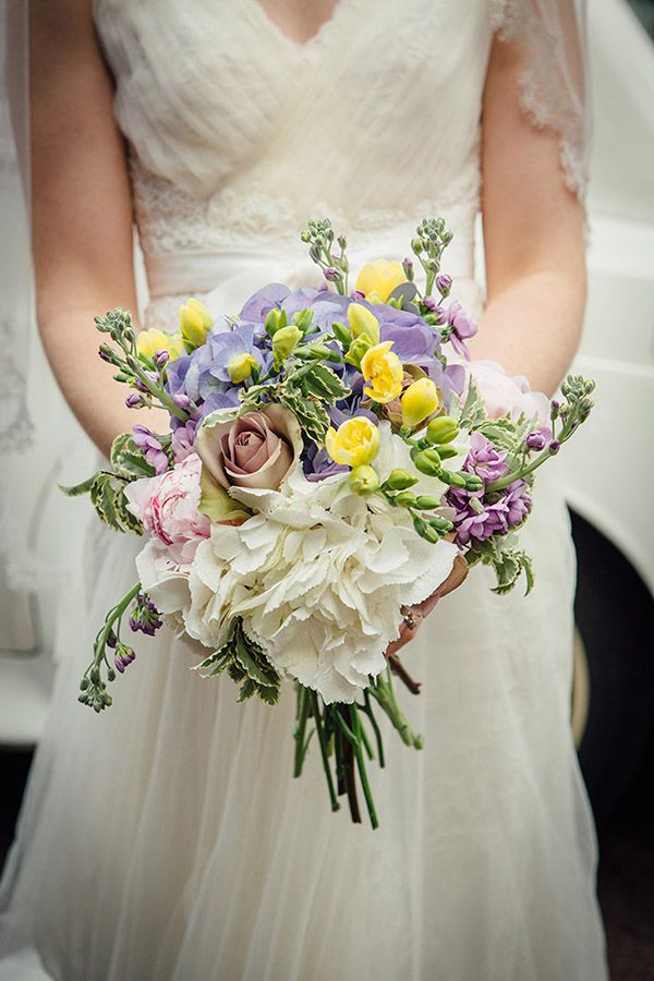 Homemade Wedding Bouquets Ideas : Whimsical rustic homemade backgarden barn wedding