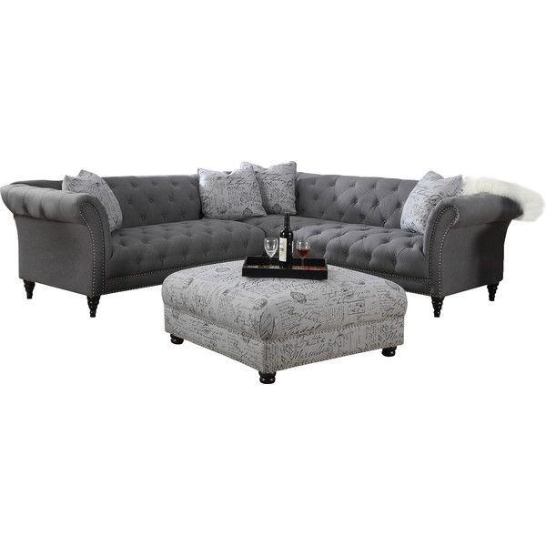 Sally 102'' Tufted Sectional Sofa | Joss & Main