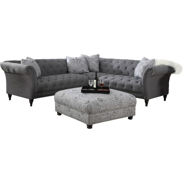 Sally 1023939 tufted sectional sofa joss main living for Sectional sofa joss and main