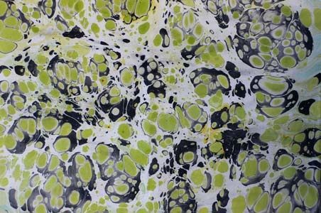 Marbled paper by BARBARA KELNHOFER, Staufen, Germany: Barbara Kelnhof, Marbles Paper