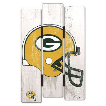 Green Bay Packers Fence Sign at the Packers Pro Shop http://www.packersproshop.com/sku/0908078016/