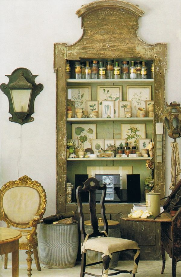interesting shelf unit: Cabinets Of Curio, Houses Beautiful, Idea, French Interiors, Botanical Prints, Wall Cabinets, Wooden Crates, Natural Study, Shelves United