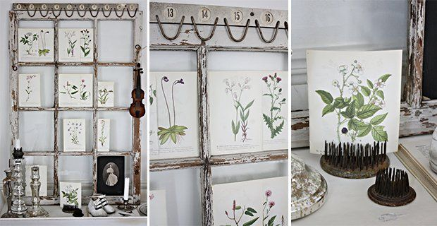 Recycled windows to use as frames