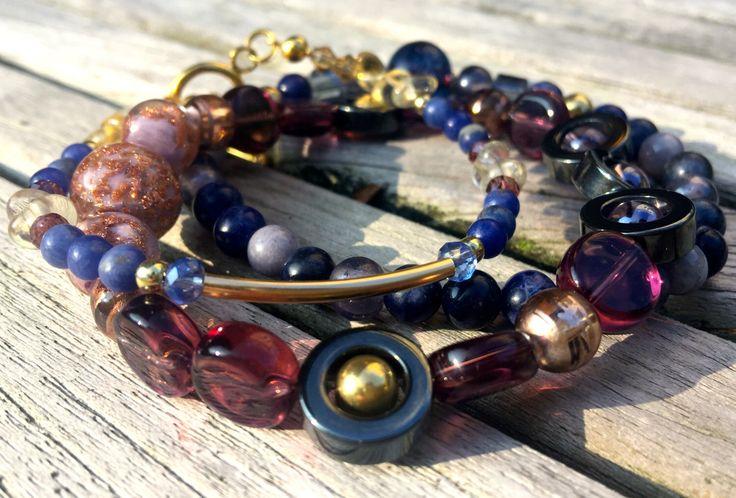 Koninklijke armbanden van goud door EarthbeadsByYasmy