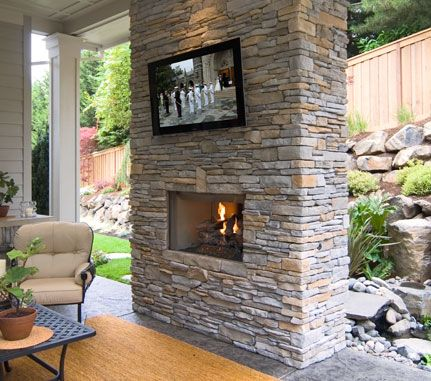 Indoor Stone Cladding >> Outdoor Fireplace: Fog SOUTHERN LEDGESTONE - Cultured Stone® Brand_Manufactured Stone Veneer ...