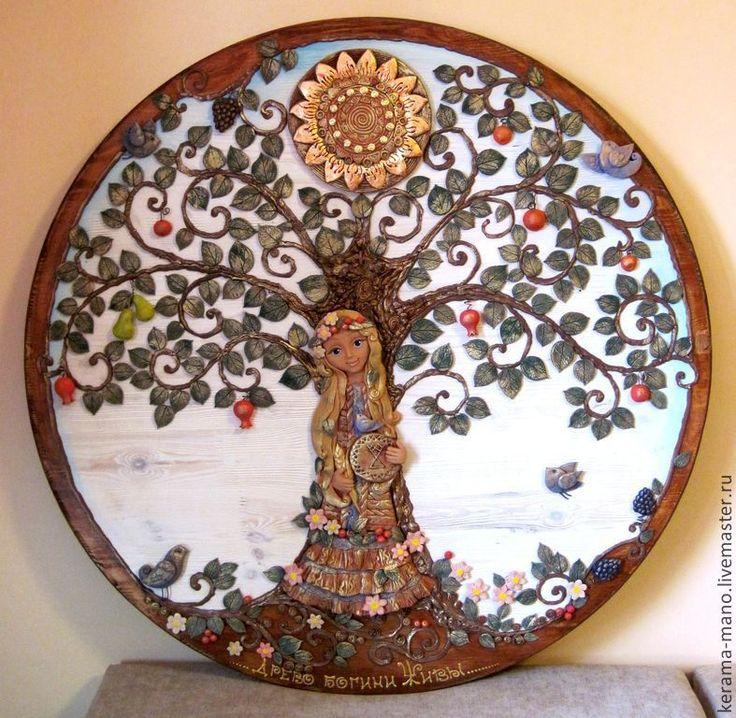 Купить Древо Богини Живы - богиня, древо жизни, панно настенное, подарок женщине