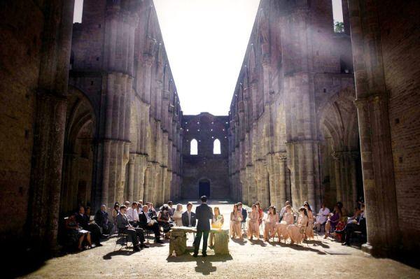 #Wedding in San Galgano Abbey, #Tuscany