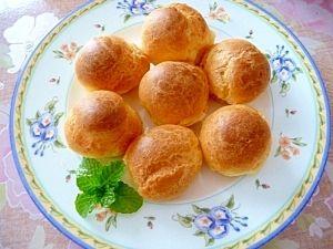 豆乳とオリーブオイルのプチシュー★バター不要