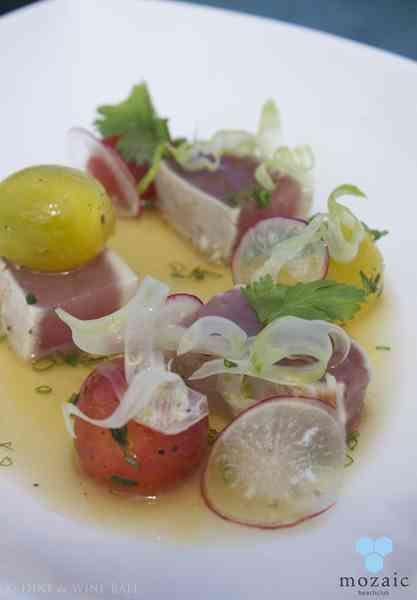 Tataki of Yellow Tuna © Mozaic Beachclub