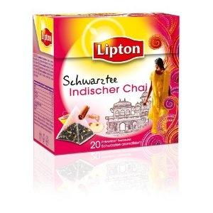 Lipton Schwarztee Indischer Chai, mit Apfelstücken, Zimt und Ingwer (Pyramide -Teebeutel), 3-er Pack (3 x 20 Teebeutel): Amazon.de: Lebensmittel & Getränke