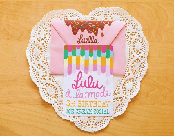 Birthday A La Mode - cute birthday party idea