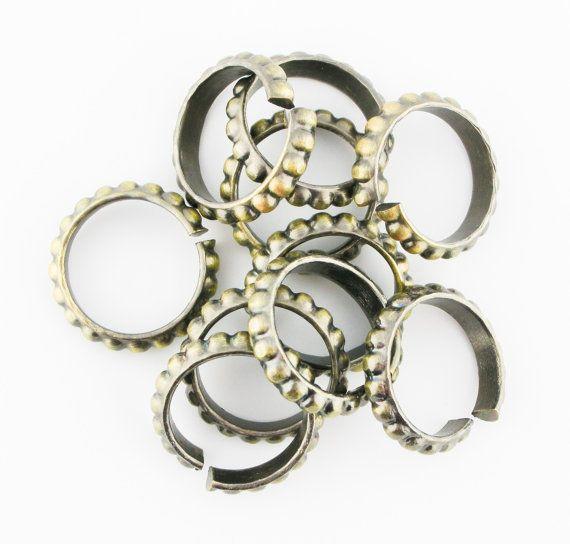 10pcs 15mm 17mm Antique Brass Bronze by FancyGemsandFindings, $5.99