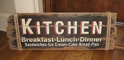 Large KITCHEN Wood Wall SIGN*Primitive/French Country Kitchen/Restaurant Decor