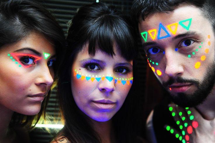 maquiagens com tinta neon - Pesquisa Google