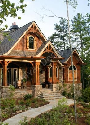 Big Canoe House Plan - Exclusive - Front
