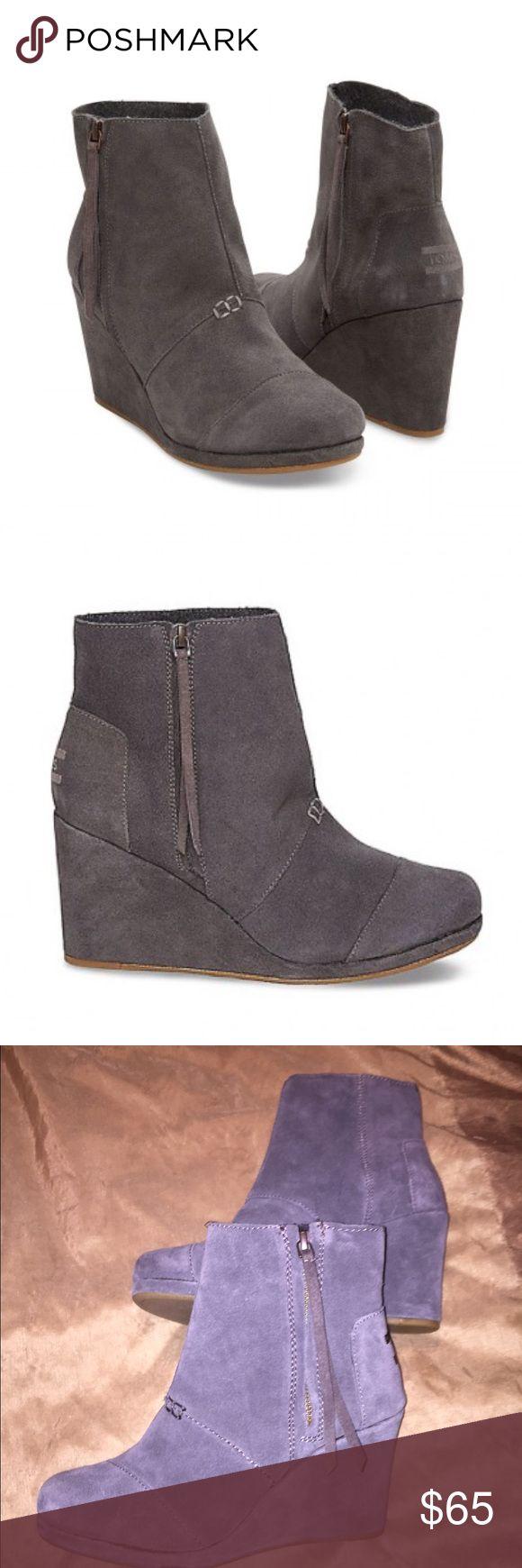 NWOT Toms Desert wedge booties! NWOT Toms desert wedge booties! Super cute! Heel was just too high for me 😭 TOMS Shoes Ankle Boots & Booties