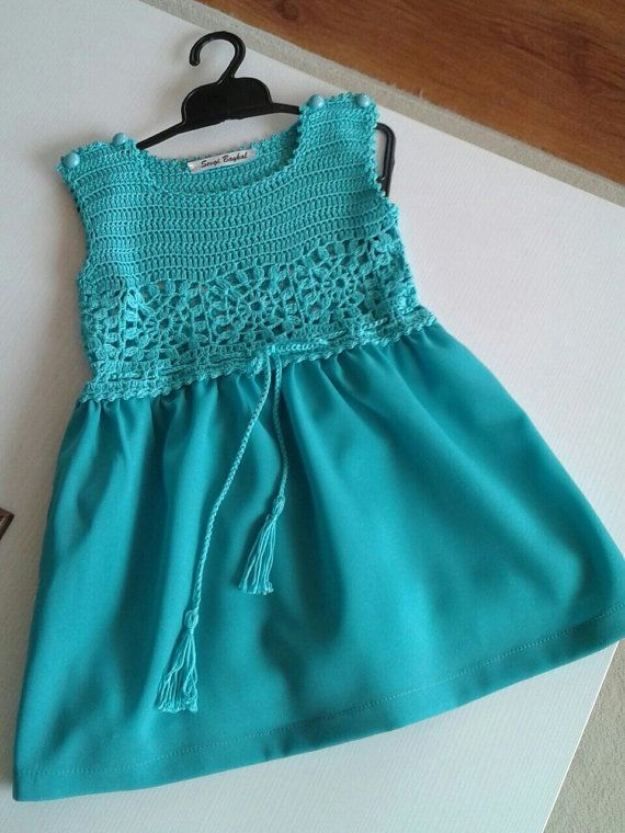 Hey, I found this really awesome Etsy listing at https://www.etsy.com/listing/235933660/little-girl-dresses-crochet-top-flower
