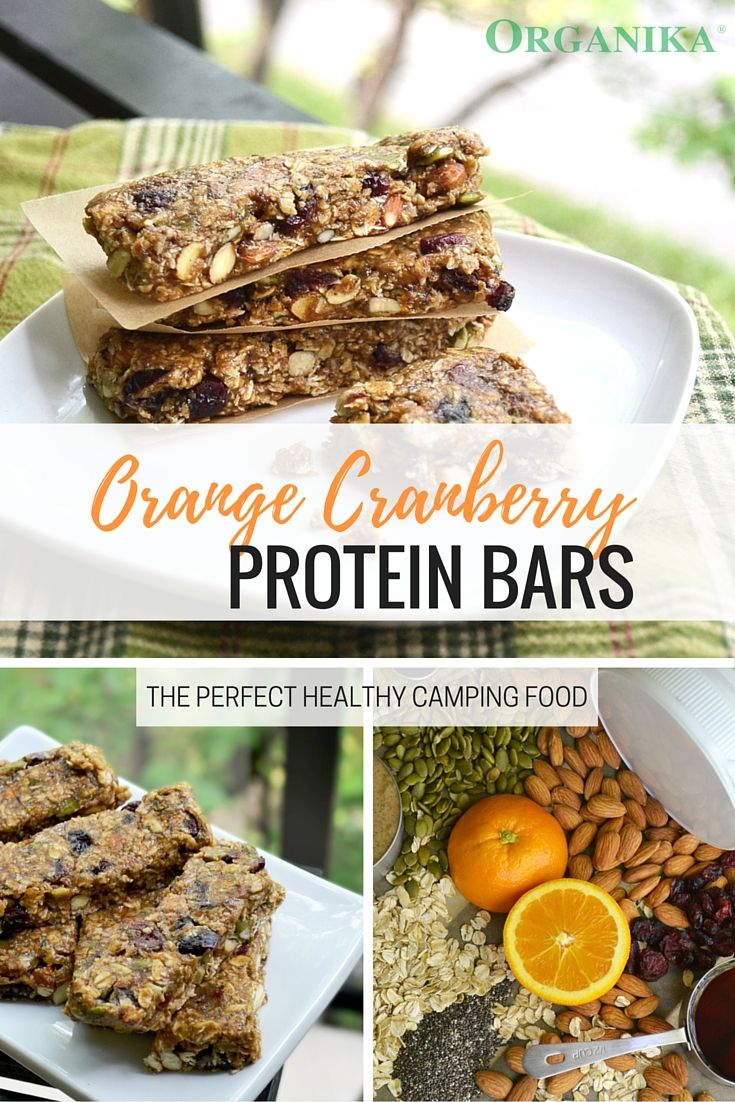 These orange cranberry protein bars are healthy, easy to make, and perfect for fuelling your energy on the go! Make these ahead of time and pack along for those summer camping trips! #cleaneats #healthy #snacks #protein #bars #recipe