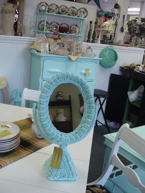 Oval Wicker Mirror by @PattisFinds | classic as a... | Wicker Furniture  wickerparadise.com