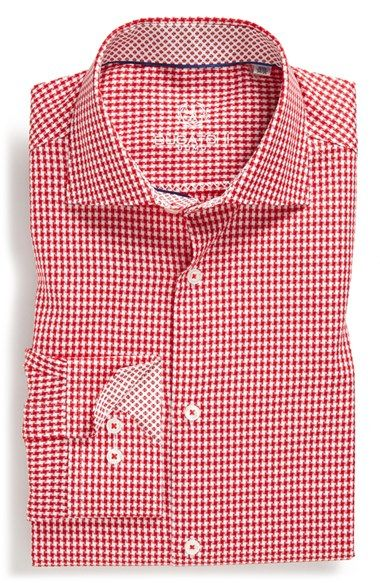 Bugatchi+Trim+Fit+Check+Dress+Shirt+available+at+#Nordstrom