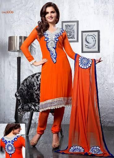 Designer Orange color #Salwar kameez