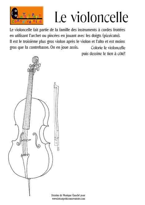 dessin de violoncelle