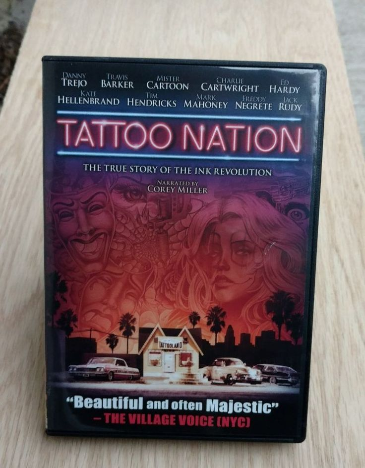 Tattoo Nation (DVD, 2013) Documentary Corey Miller Narrator Danny Trejo NR