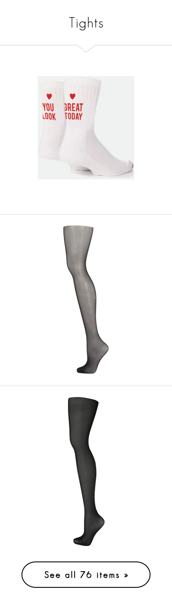 """""""Tights"""" by smilie-anne ❤ liked on Polyvore featuring intimates, hosiery, socks, tights, black, nylon tights, panty hose stockings, pantyhose stockings, nylon stockings and sheer tights"""