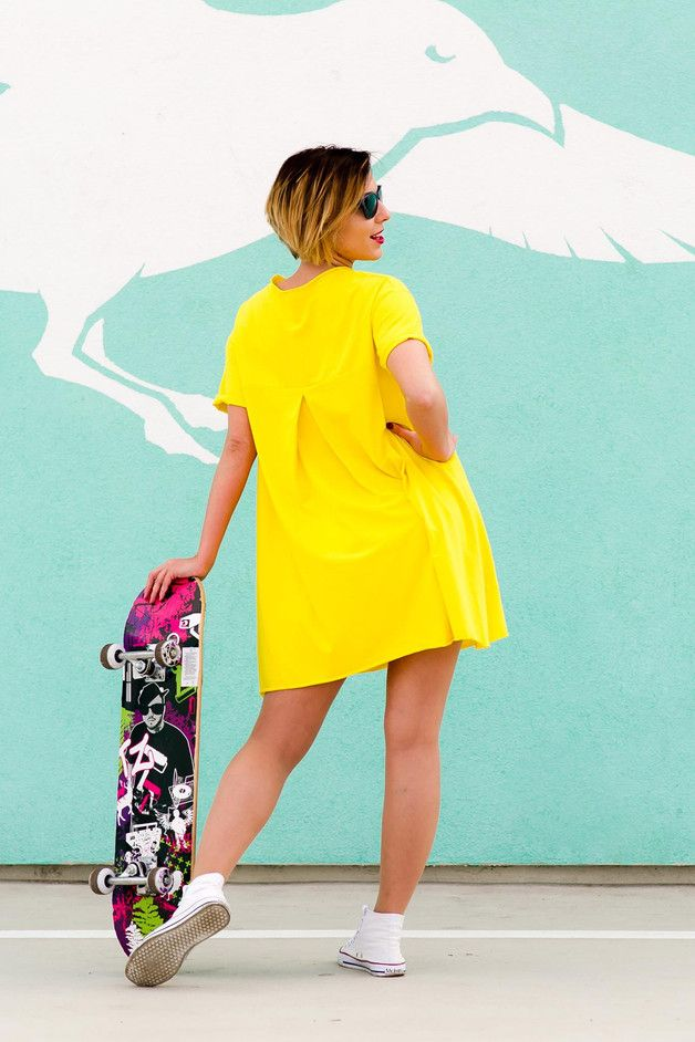 Sukienka ? t-shirt ? Oli Kanarkowa - AfterHours - Bluzki i sukienki ciążowe