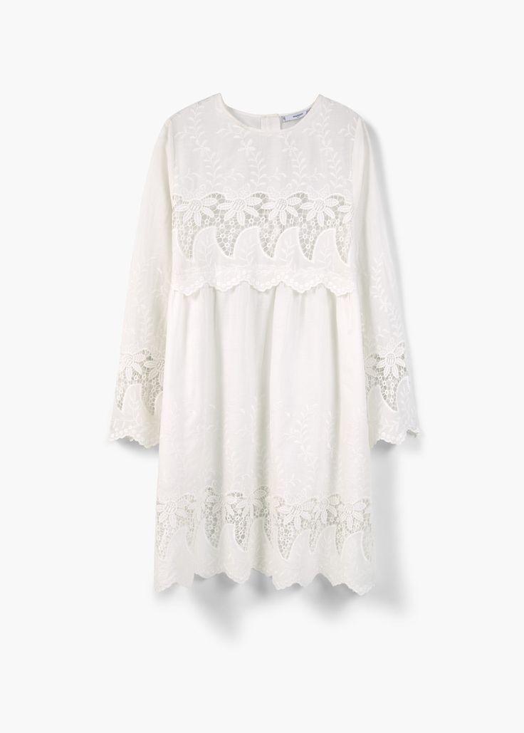 Opengewerkte katoenen jurk
