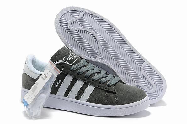 Heren Adidas Campus II Suede Sneakers Grijs Wit | Adidas ...