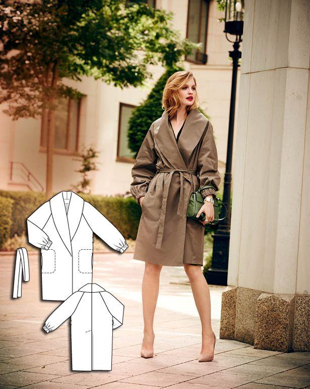 Shawl Collar Trench Coat 10/2015 #102 http://www.burdastyle.com/pattern_store/patterns/shawl-collar-trench-coat-102015?utm_source=burdastyle.com&utm_medium=referral&utm_campaign=bs-tta-bl-150928-GreenSophistication102