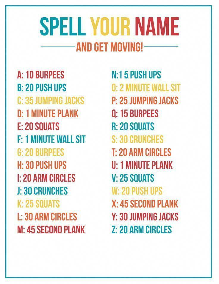Fitness Idea Ref 7333489842 Read Helpful Yet Helpful Plans To Be Fit Now Bestfitnessplanworkouts Spell Your Name Workout At Home Workout Plan Quick Workout