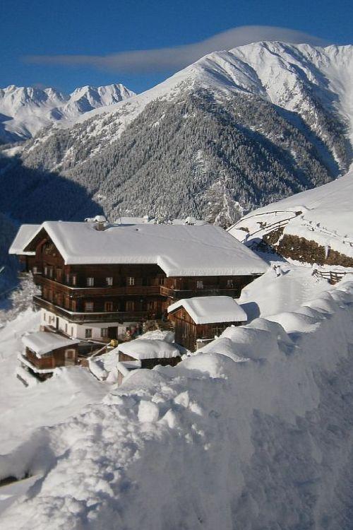 Old farmhouse in the Alps, Tyrol, Austria