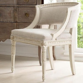 Gustavian tub chair.