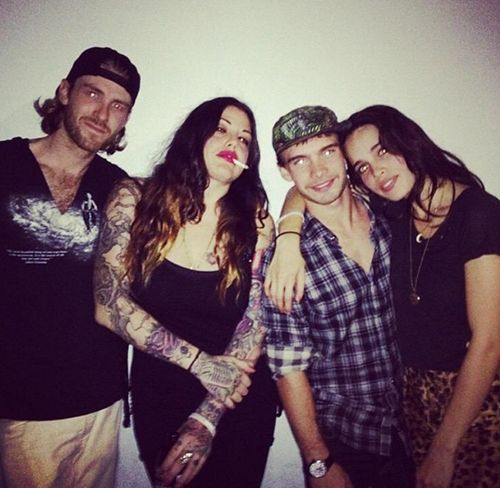 Artist Mia Tyler has a famous sister, actress Liv Tyler, and an even more famous rock star father Steven Tyler. #InkedMagazine #tattooedpeople #tattoos #people