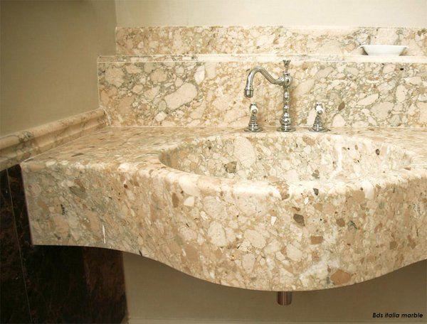 #Интерьер ванны с сантехникой #granperlatomolisano #дизайн #дизайнинтерьера #камень #натуральныйкамень #раковинa #Ванная комната