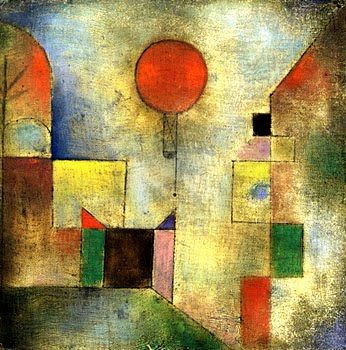 Red balloon Painter Paul Klee