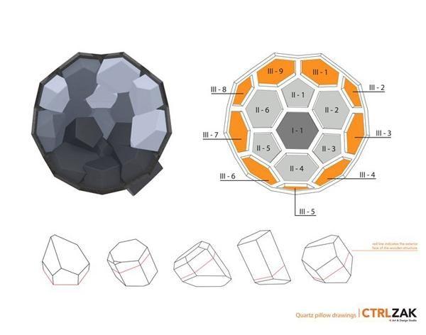 Zeichnungen Plan Quartz Sessel Design Geometrischen Formen