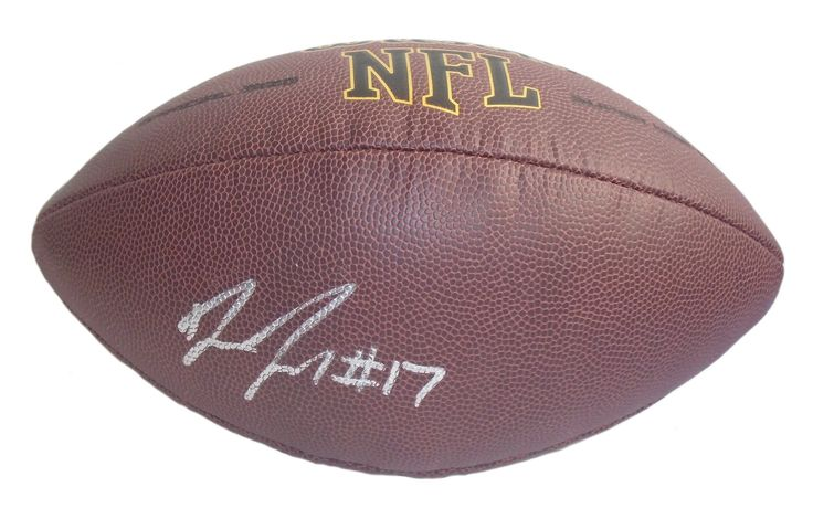 Devin Funchess Autographed NFL Wilson Composite Football, Proof Photo. Devin Funchess Signed NFLFootball, Carolina Panthers, Michigan Wolverines,Proof  This is a brand-new Devin Funchess autographed NFL Wilson composite football. Devin signed the footballin silver paint pen.Check out the photo of Devin signing for us. ** Proof photo is included for free with purchase. Please click on images to enlarge. Please browse our websitefor additional NFL & NCAA footballautographed…