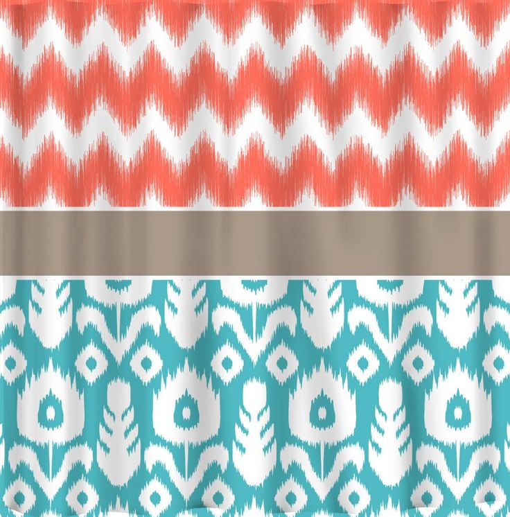 coral and blue shower curtain. Custom Coral Shower Curtain 107 best Curtains Collection images on Pinterest  ideas