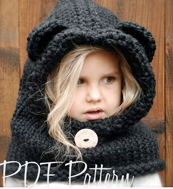 This listing is a PDF PATTERN ONLY for the Burton Bear Cowl, NOT finished product.  This cowl is handcrafted and designed with comfort and warmth in mind... Perfect for layering through all the seasons...  This cowl makes a wonderful gift and of course also something great for you or your little one to wrap up in.  All patterns written in standard US terms.  This pattern does have some crochet edging and details  *Sizes: 6/9 month - 12/18 month - Toddler - Child - Adult sizes *Any Super…
