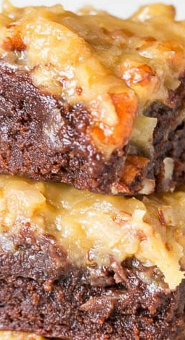17 Best Ideas About German Chocolate Brownies On Pinterest