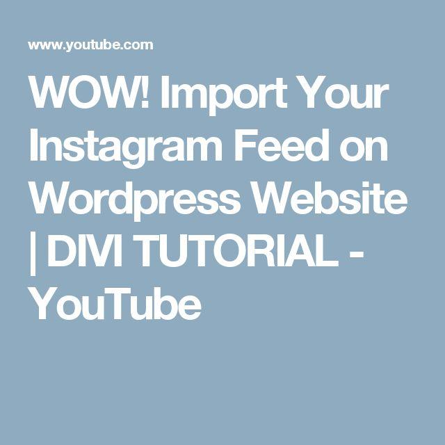 best 20+ instagram feed wordpress ideas on pinterest | joli étui