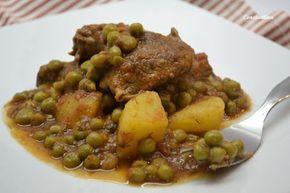 Μοσχαράκι με αρακά - beef, peas and potatoes