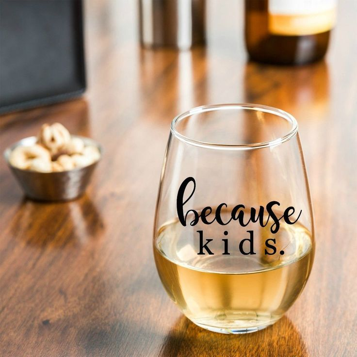 We've all been there before. End of a long day and the big glass of wine is just calling your name! Because of kids, you drink your wine! This tumbler makes the perfect gift for a new mom or one of yo