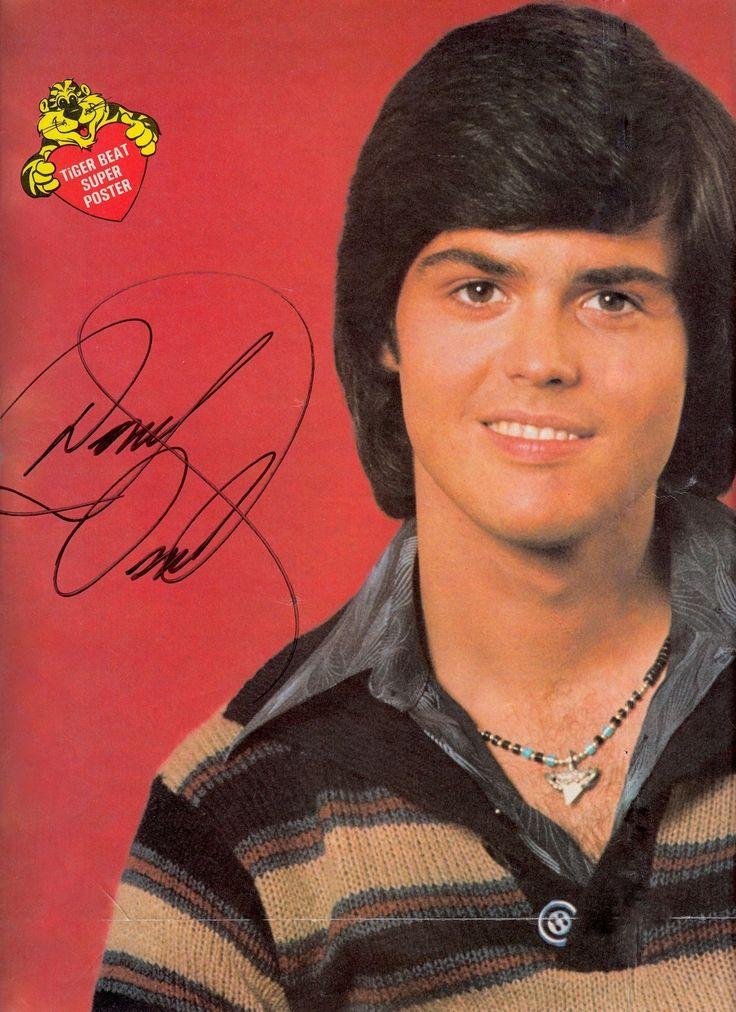 DONNY OSMOND signed in person original signature TIGER BEAT 1970's Super Poster (DETAIL of top left corner only) (signed July 24 2006 at Crown Casino Melbourne) (minkshmink on pinterest)