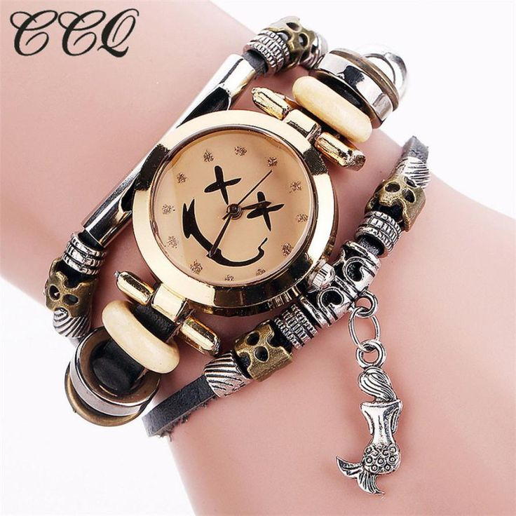 CCQ Luxury Brand Vintage Cow Leather fashion mens watches top brand Bracelet Watch Women Wristwatch Ladies Dress Quartz Watch