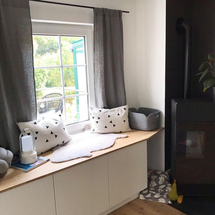 Die neue Leseecke/Sitzbank im Wohnzimmer kommt zie…